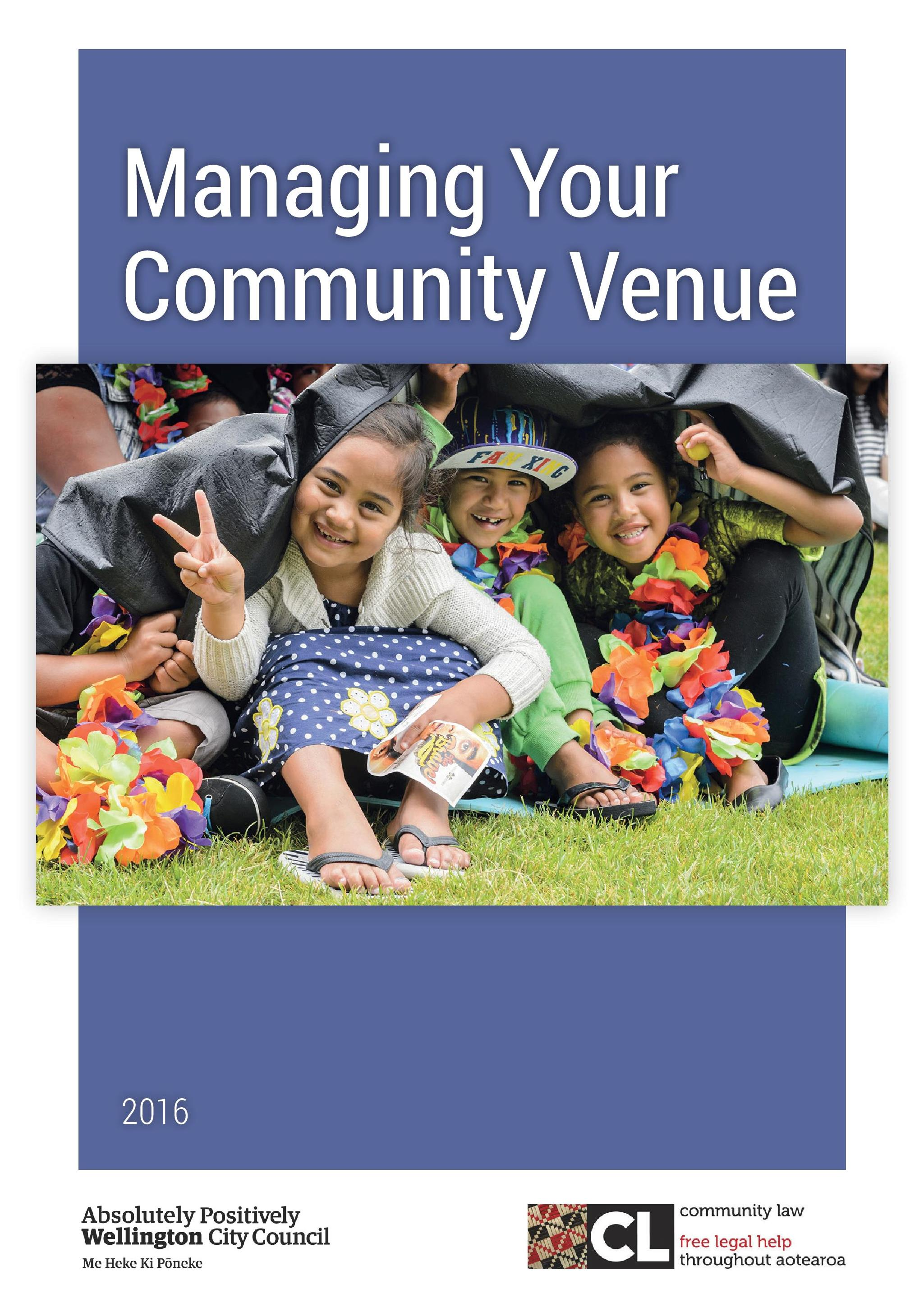 Managing your community venue - cover